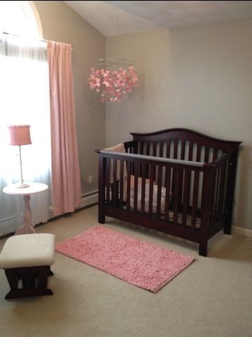 pink and brown baby room ideas