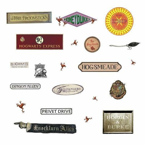 Harry Potter Signs Wall Decals