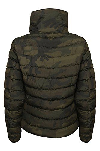 Pandapang Mens Winter Warm Thick Quilted Stand Collar Puffer Parka Coat Jacket