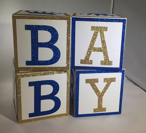 royal prince baby shower blocks baby shower centerpiece blocks rh pinterest com