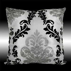 Damask Ornament Pillow case silver or