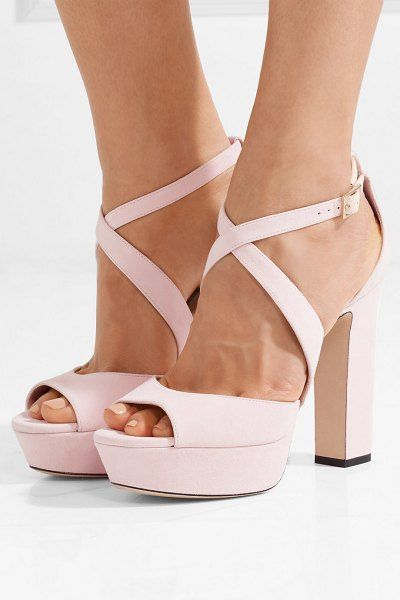April 120 suede platform sandals by