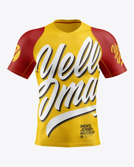 Download Men S Jersey Mockup In Apparel Mockups On Yellow Images Object Mockups Shirt Mockup Design Mockup Free Clothing Mockup
