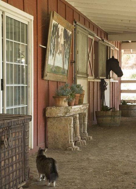 I can so see this in my friend Sonya's barn. she would do it in a heartbeat...and probably from stuff she had left over.
