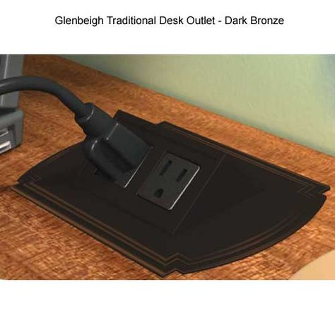 Glenbeigh Simple #Power & #Data Solutions: #Desk #Outlets bring power and data conveniently to you. Retracts flush into your #desktop.