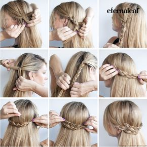Crown Braided Ponytail For Sports Hair Styles Volleyball