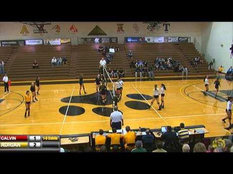 10 30 2015 Adrian College Women S Volleyball Vs Calvin Women Volleyball Videos Calvin
