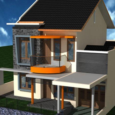 contoh gambar desain rumah minimalis 2 lantai - desain