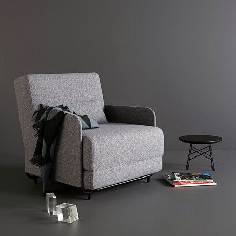 Innovation Noir chair bed with lamp \ table nojatuoli vuodetuoli