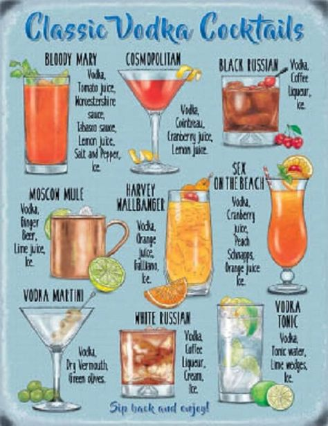 15x20 Metal Sign Plaque Home Bar Kitchen Vodka Cocktail