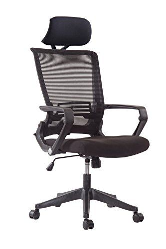 5 Minutes Completely Easy Installation Ergonomic Office Foldable Swivel Home Mesh Back Task Chair Black W Head Rest Office Chair Headrest Chair