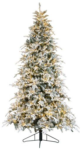 The Bavarian Pine Has Beautifully Molded Flat Medium Needles Arching Outward To Create Multiple Laye Cool Christmas Trees Trees And Trends Snowy Christmas Tree