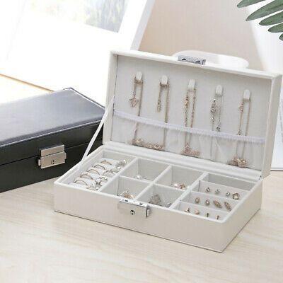Jewelry Box Organizer Velvet Jewellery Ornaments Necklace Rings Case Storage Ebay In 2020 Jewelry Organizer Box Travel Jewelry Box Jewelry Display Box