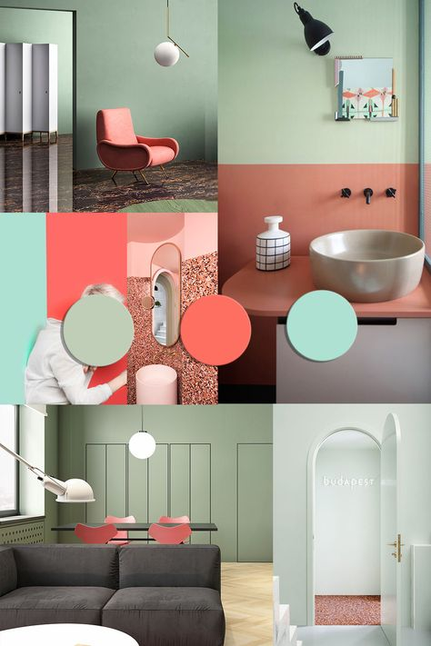 Cool Color Trends for 2020 starting from Pantone 2019 Living Coral | ITALIANBARK #colortrends #pantone2019 #coloroftheyear #coral #mint