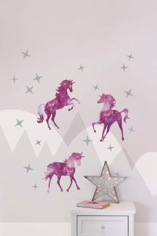 7632487f4 Buy Set Of 20 Magical Unicorn Wall Sticker from the Next UK online shop