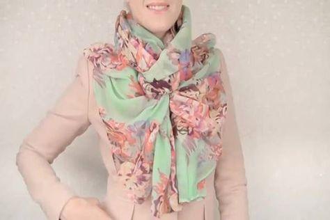 Amitől mindenki utánad fordul majd az utcán: egyedi ötletek sál vagy kendő viseléséhez! (videó)