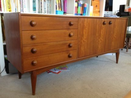 Retro Vintage Teak Timber Sideboard Buffet Cabinet 60s 70s