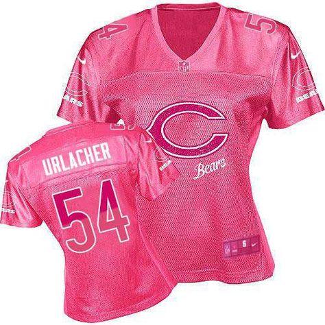 $109.99 Women's Nike Chicago Bears #54 Brian Urlacher Elite Fem Fan Pink Jersey