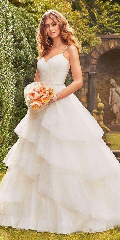 Sweetheart Beaded Waist Ball Gown Wedding Dress