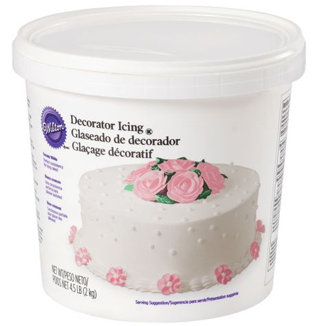 White Ready To Use Decorator Icing 4 5 Lb Tub Wilton Decorator Icing Icing Butter Cream