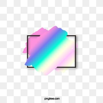 Text Border Of Holographic Brush Brush Effect Element Holographic Iridescent Color Png Transparent Clipart Image And Psd File For Free Download Text Borders Holographic Clip Art