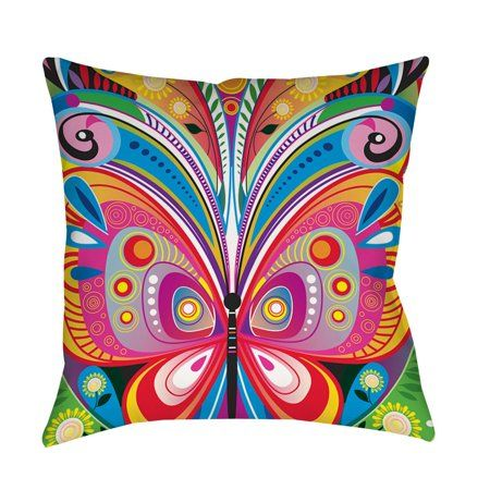 Idg Pattern Butterfly Indoor Pillow Walmart Com Throw Pillows Outdoor Throw Pillows Outdoor Pillows