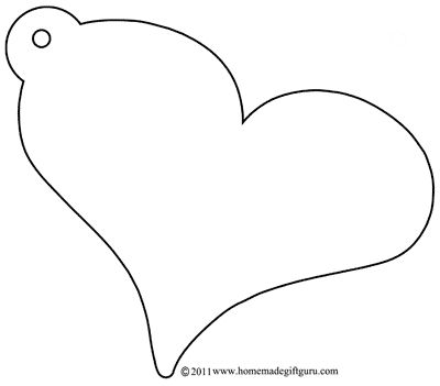 Large Heart Cut Out Template   More Gift Tag Templates: Shapes