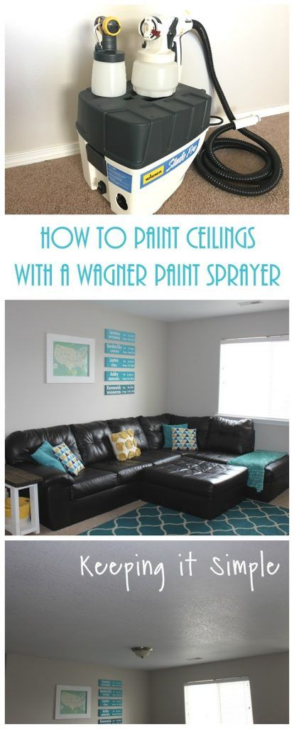 How To Paint Ceilings With A Wagner Studio Pro Paint Sprayer Painted Ceiling Paint Sprayer Diy Ceiling Paint