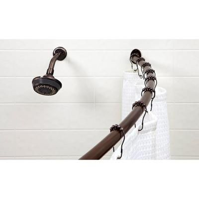 Bath Bliss Bath Bliss Curved Shower Rod In Bronze 5892 Orb