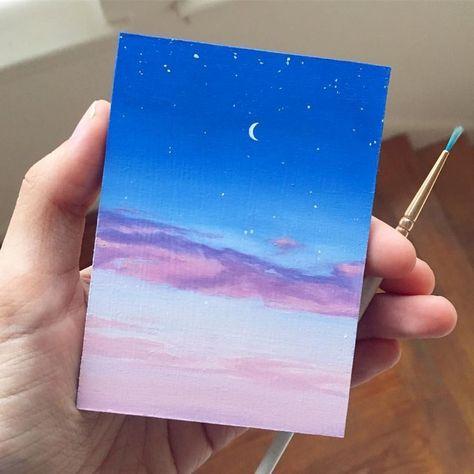 Ich mochte es, eine Weile sehr einfache Bilder wie dieses zu malen  #bilder #dieses #einfache...