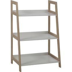 Bucherregal Dunkler Holzfarbton Weiss Mobile Duo Belianibeliani Wandregaledekorieren Open Shelving Units Shelves Bookcase