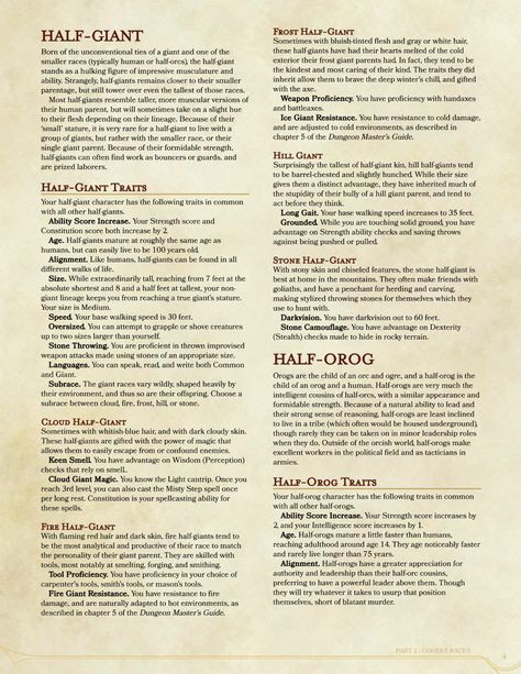 DnD 5e Homebrew — Racial Handbook Part 2 by Supreme_Slayer