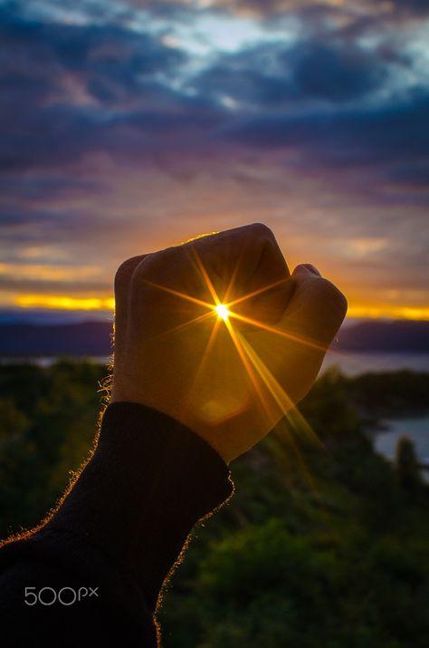 Catching the last sunlight -