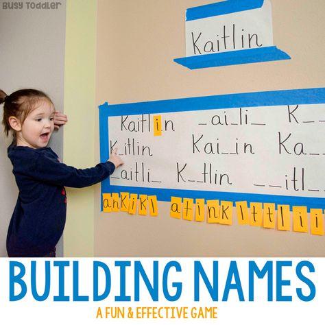 Building Names - Preschool Literacy Activity - Busy Toddler
