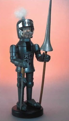 Zim's Heirloom Medieval Knight 16 inch Wood Christmas Nutcracker Decoration New | eBay