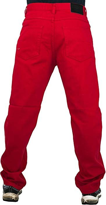 368cef0d Mens red Jeans, Peviani g Urban Denim Comfort Trousers, Straight ...