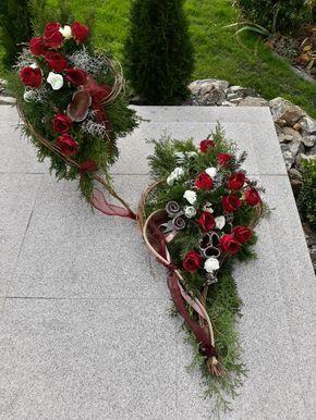 Dekoracja Nagrobna Florystyka Funeralna Wszystkich Swietych 1 Listopada Funeral Floral Grave Decorations Floristry