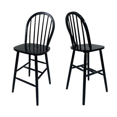 Surprising Alcott Hill Abaokoro Traditional Rubberwood 29 Bar Stool Gamerscity Chair Design For Home Gamerscityorg