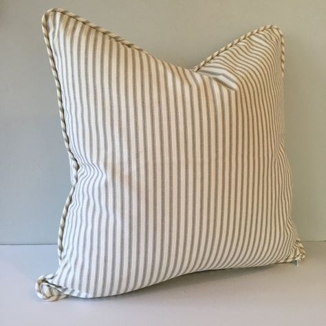 Throw Pillow Vintage Ticking Stripe