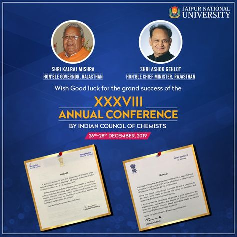 XXXVIII Annual Conference by Indian Council of Chemists