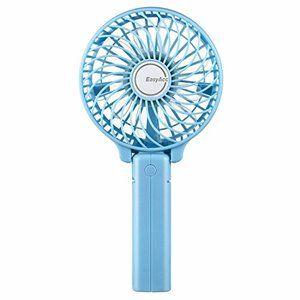 ブルー Easyacc 携帯扇風機 Usbミニ扇風機 Lg2600mah バッテリー電池付き 小型 手持ち 折り畳み式 卓上置き 扇風機 Usb 扇風機 卓上