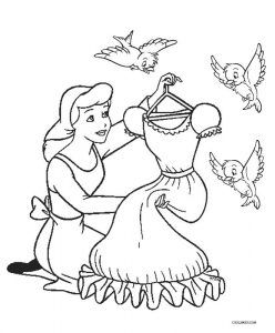 graphic regarding Cinderella Story Printable named Absolutely free Printable Cinderella Coloring Internet pages For Children