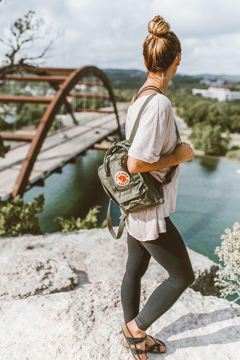Fjallraven Kanken Mini Backpack. Birkenstocks. Hiking | LivvyLand - Weekend Hike: 360 Overlook