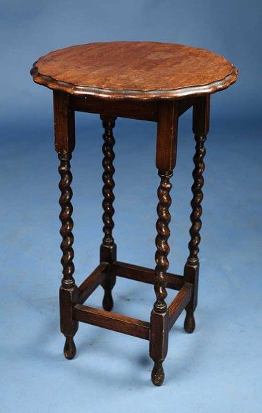 Upcycled Vintage Oak Side Table With Barley Twist Legs | Furniture |  Pinterest