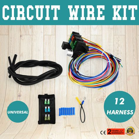 Sponsored(eBay) UNIVERSAL 12 CIRCUIT WIRE HARNESS MUSCLE ... on