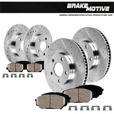 Rear Brake Disc Rotor Rotors /& Brake Ceramic Pad Pads for 2013-2014 Ford Fusion