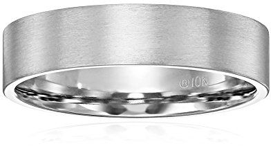 Men S 10k White Gold 6mm Comfort Fit Plain Wedding Band With Soft Satin Finish Review Mens Wedding Rings Plain Wedding Band White Gold Wedding Rings