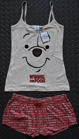 b643c6b3f2 Primark Winnie The Pooh Bear PJ Vest   Shorts Ladies Womens Pyjamas Set -  Click. Buy. Love. - 1