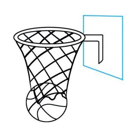 Basket Ball Hoop Drawing Easy 61 Trendy Ideas Basketball Hoop Easy Drawings Drawing Tutorial Easy