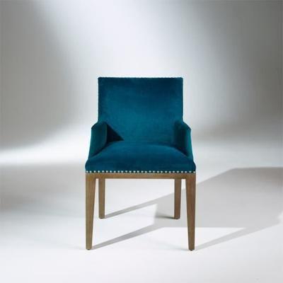 Fauteuil De Table Kenza Velours Bleu Canard Fauteuil De Table Fauteuil Velours Bleu